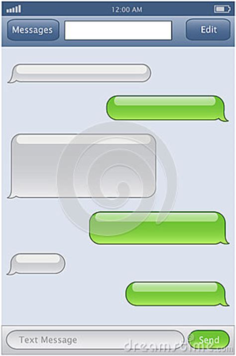 Phone Chat Template Royalty Free Stock Photo Image 29778025 Blank Iphone Texting Template