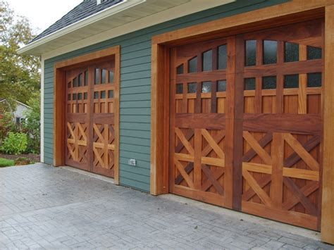 Wooden Garage Doors Custom Wood Garage Doors And Panels Detail Of Cars Garagespec Magazine
