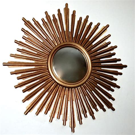 antique gold sunburst iron wall mirror wall decor