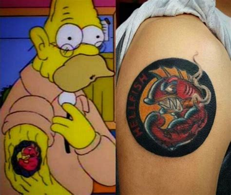 the simpsons tattoo 15 tattoos that paid tribute to classic simpsons jokes