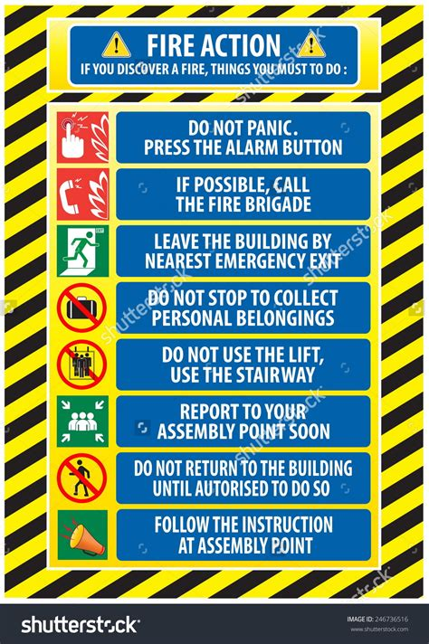 Emergency Procedure Guide Template by Emergency Assembly Point Sign Clip 40