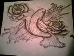 fish roses drawing pencil deviantart