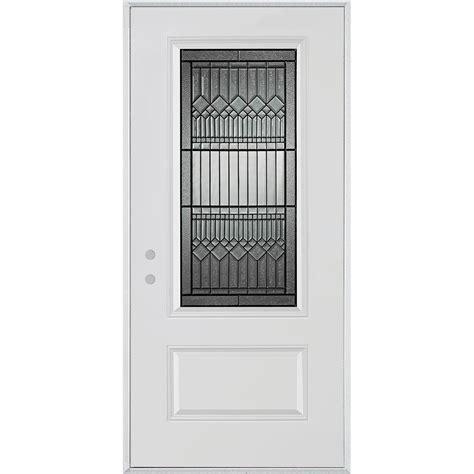 Prehung Interior Doors Home Depot by Stanley Doors 36 In X 80 In Lanza Patina 3 4 Lite 1