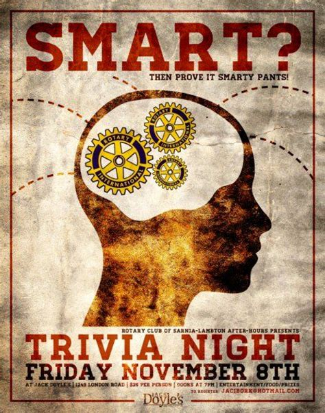 quiz theme night 17 best images about trivia night posters on pinterest
