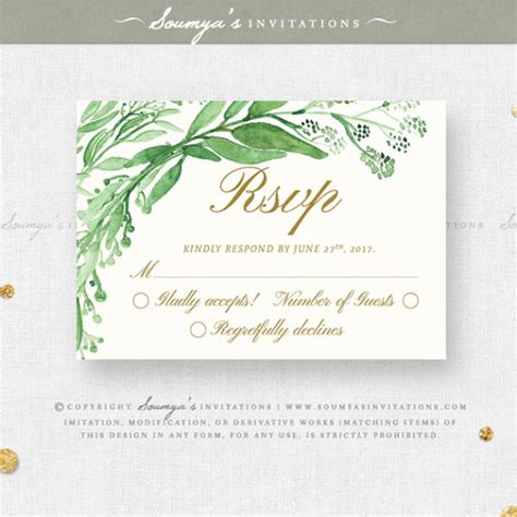 Wedding Invitations Green by Wedding Invitation Green And White Wedding Invitation Ideas