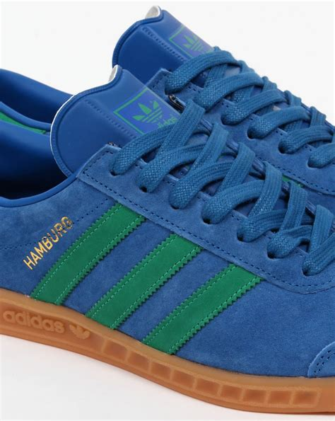 Adidas Hamburg Original | adidas hamburg trainers lush blue green gum originals