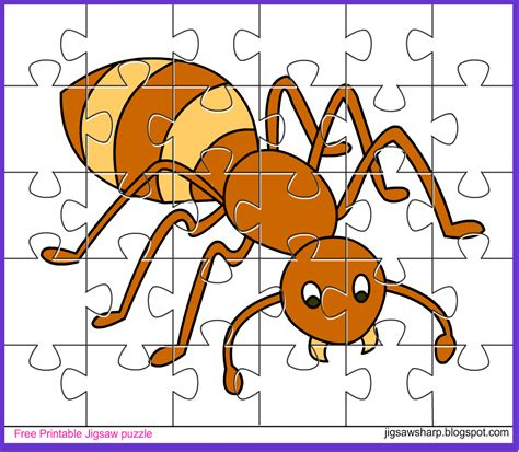 printable jigsaw puzzle for kids bee jigsaw free printable jigsaw puzzle game ant jigsaw puzzle