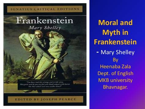Defining Morality And Humanity In Frankenstein By Mary | moral and myth in frankenstein