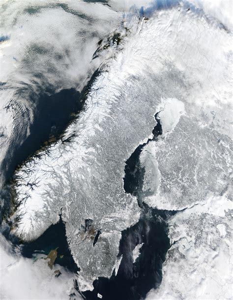 skandinavische bilder scandinavian peninsula in winter image of the day