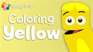 baby color crew babyfirsttv color crew learn colors yellow color