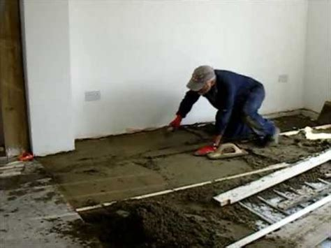 How To Screed A Floor Level by How To Diy Floor Screed