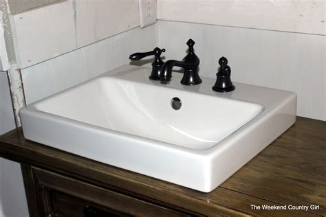 how to install drop in bathroom sink turning a dresser into a bathroom vanity the weekend