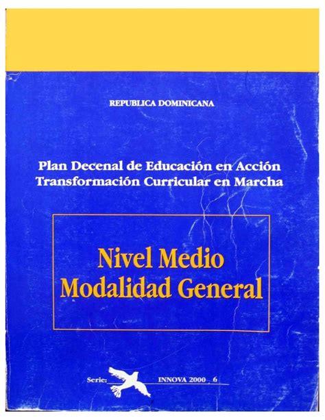 Diseño Curricular Dominicano Nivel Medio Curr 237 Culo Educativo Nivel Medio Minerd1995
