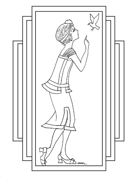 coloring pages art deco 81 art nouveau coloring page elegant art deco