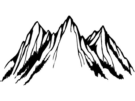 mountain range clipart clipartsgram com