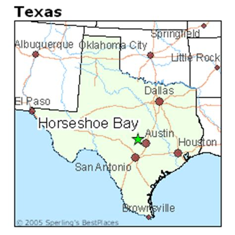 horseshoe bay texas map best places to live in horseshoe bay texas