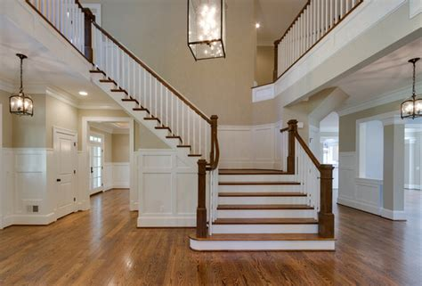 craftsman style home traditional staircase dc metro