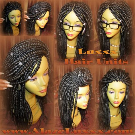wigs made for black people that are braided 18 new natural look handmade large medium box braid wig unit