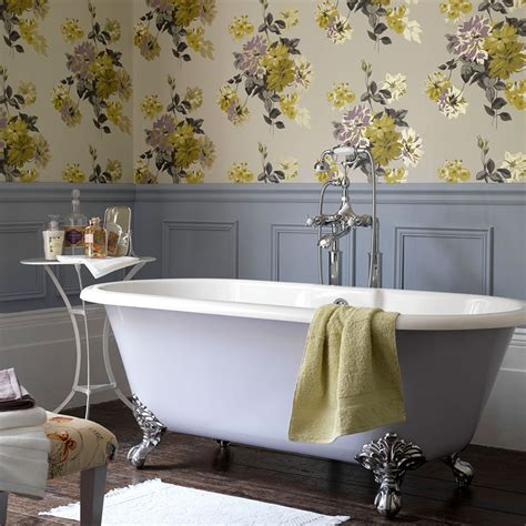 Wallpaper In Bathroom Ideas by Bathroom Wallpaper Ideas That Will Elevate Your Space To