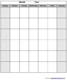 Blank Calendar Template Monday Through Friday by Blank Monday Through Friday Calendar Calendar 2017 Printable