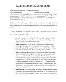 record label contracts templates recording contract free printable documents