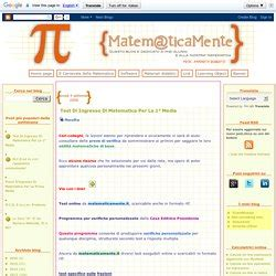 test ingresso scuola media matematica prove di ingresso pearltrees