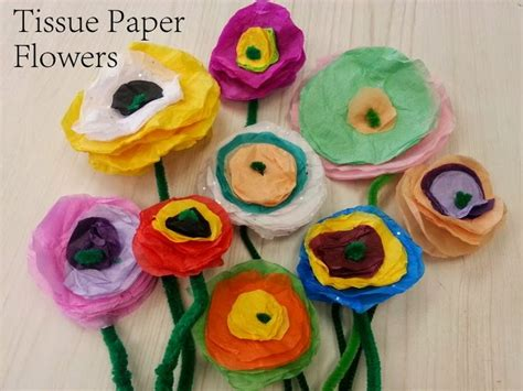 Arts And Crafts Tissue Paper Flowers - tissue paper flowers crafts for