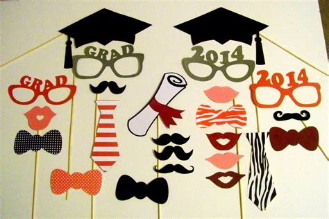 lips photo booth props graduation party idea s photo booth props graduation party set of 24 by pimpyourparty