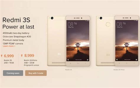 Sold Xiaomi Redmi 3s Second xiaomi redmi 3s redmi 3s prime to go on sale at 12pm today price specifications features