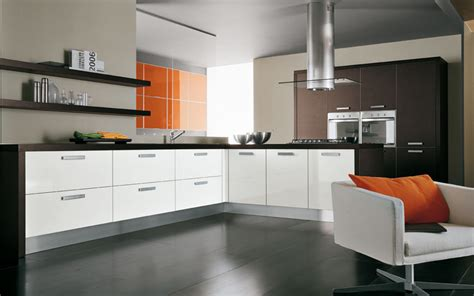 laminate kitchen designs interior exterior plan paint a glossy orange accent wall