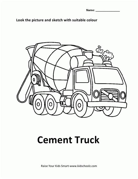 coloring pages cement truck cement truck coloring page coloring home