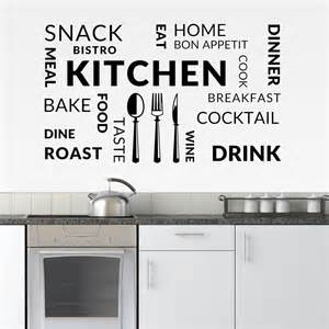 kitchen vinyl wall art sticker cafe restaurant decal food bon appetit kitchen restaurant quote wall sticker decal uk