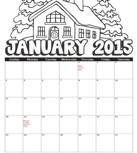 january printable games 2015 january coloring calendar kids holidays seasons