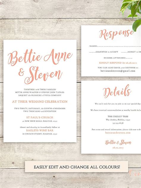 printable wedding invitation 16 printable wedding invitation templates you can diy