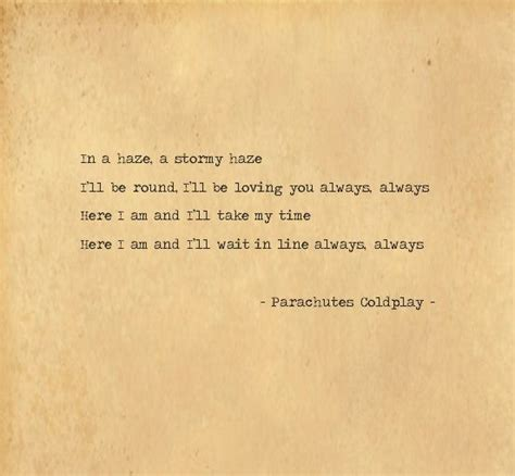 coldplay parachutes lyrics parachutes coldplay for the home pinterest