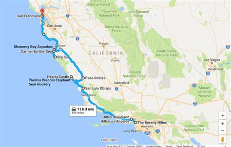 california map road trip historic highway 1 california road trip with