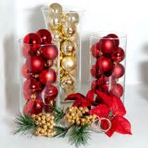 Bulk decorating idea ornament filled glass vases at dollartree com