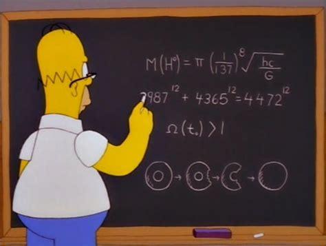 imagenes con matematicas 5 lecciones de matem 225 ticas en los simpsons taringa