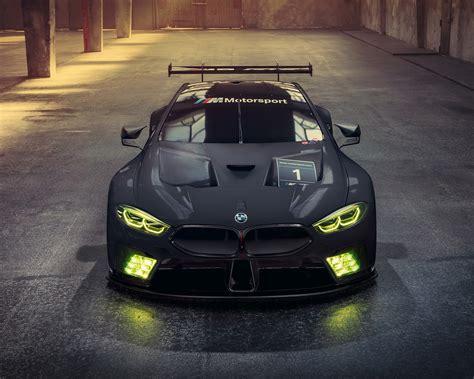 wallpaper  bmw  gte black racing car headlight