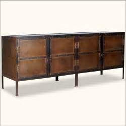 Iron Buffet Table Industrial Iron 76 Quot 4 Door Rustic Storage Buffet Sideboard