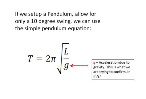 swing equation solved if we setup a pendulum allow for only a 10 degree