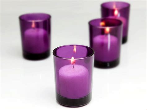 cudge net purple votive candle holders of 72