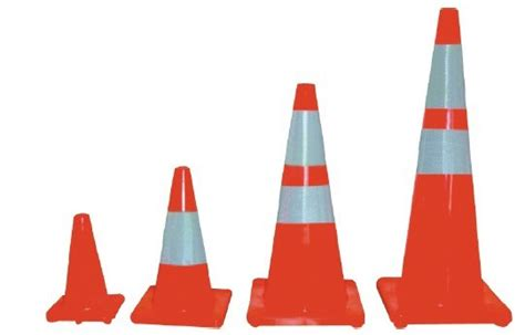 Generic Rubber 70cm Traffic Cone road safety products manufacturer supplier hangzhou