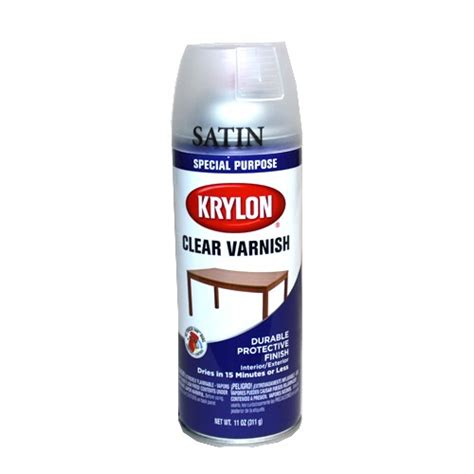 spray painting untreated wood krylon satin clear varnish spray 11 oz painting crafts