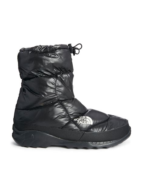 northface snow boots the snow boots in black for lyst