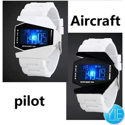 Jam Tangan Led Aircraft White jam tangan led aircraft pilot