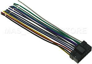 wire harness for sony cdx gt07 cdxgt07 cdx gt09 cdxgt09