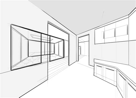 interior design drawing how to draw with two point perspective beautiful