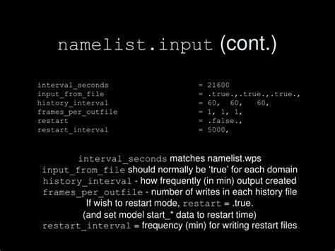 wrf online tutorial namelist input ppt wrf tutorial powerpoint presentation id 460451