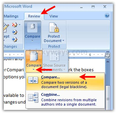 Compare Two Word Documents And Highlight Differences compare word documents compare side by side highlight